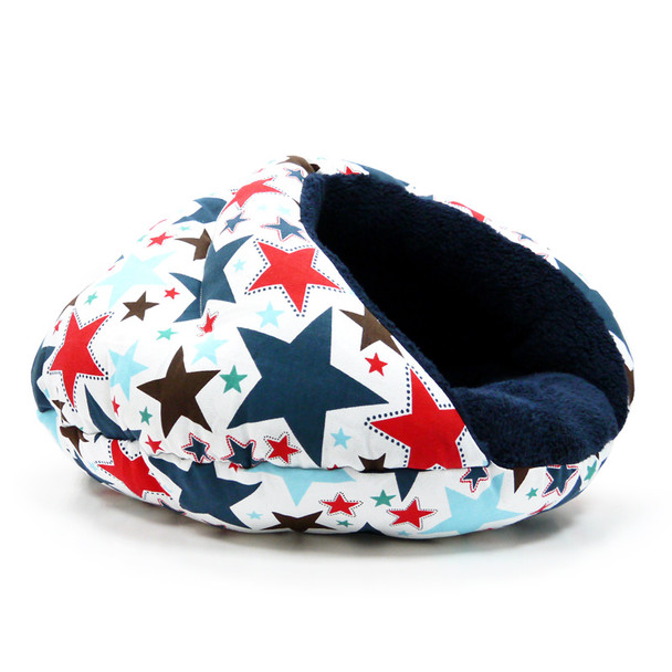 Burger Burrowing Pet Dog Bed - Patriotic Stars