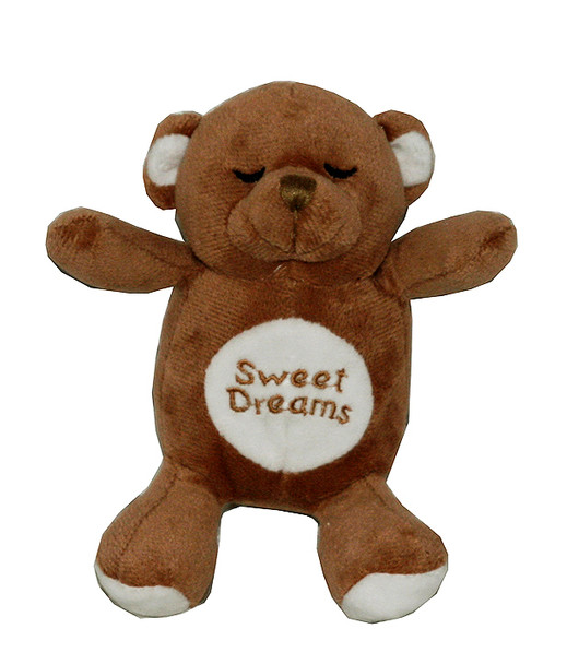 Brown Snoring Bear Dog Toy
