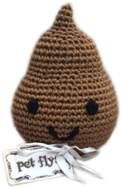 Doodie the Poo Organic Cotton Crocheted Dog Toys