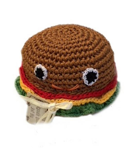 Hamburger Organic Cotton Crocheted Dog Toys