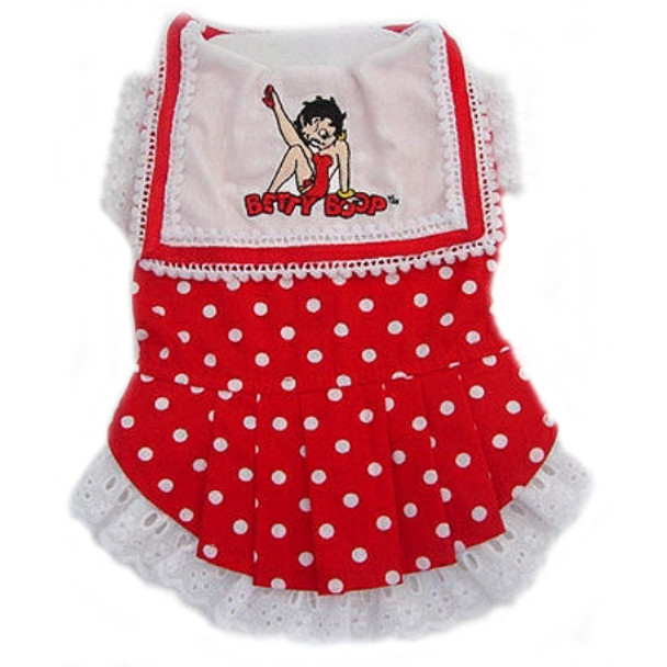 Betty Boop Polka dot Bib Dog Dress