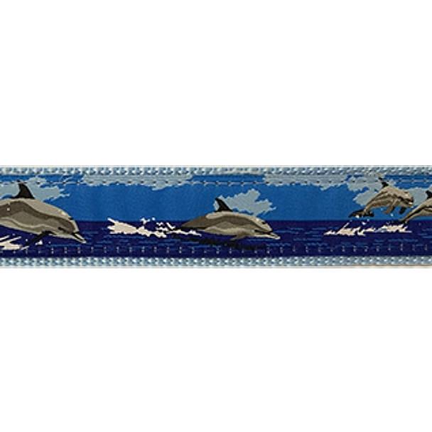 Dog Collar - Dolphin -  3/4 & 1 1/4