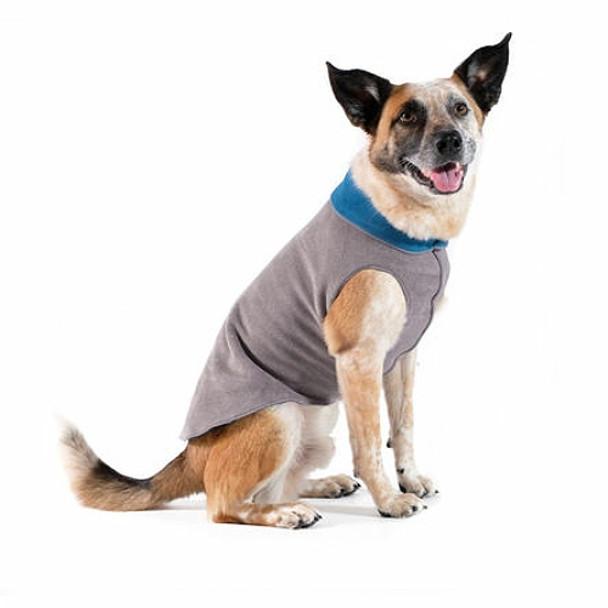 Charcoal / Marine Duluth Double Fleece Dog Wrap