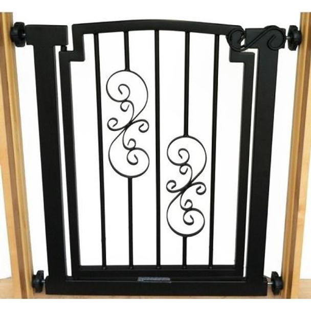 Noblesse Doorway Dog Gate - Black