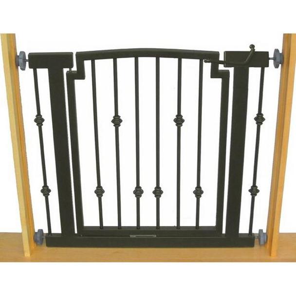 Emperor Rings Hallway Dog Gate - Black