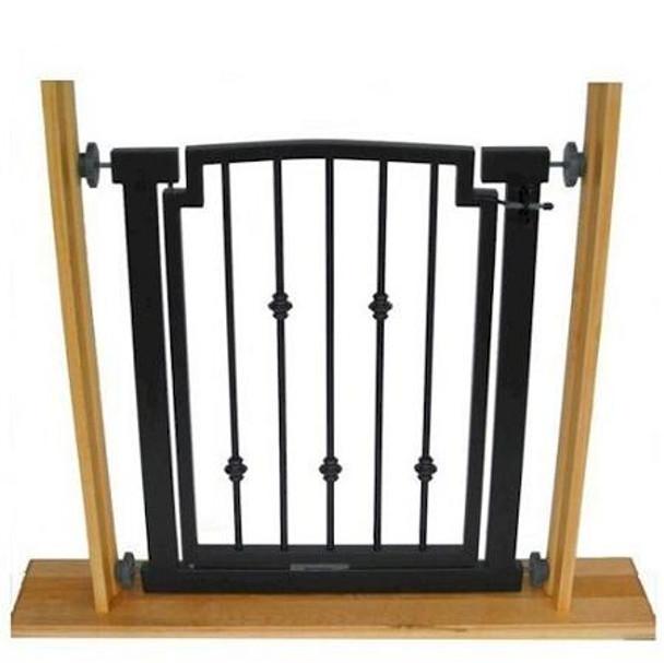 Emperor Rings Doorway Dog Gate - Black