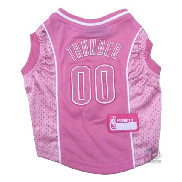 Oklahoma City Thunder Pink Pet Jersey