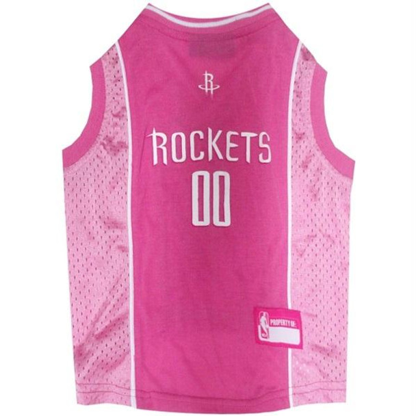 Houston Rockets Pink Pet Jersey