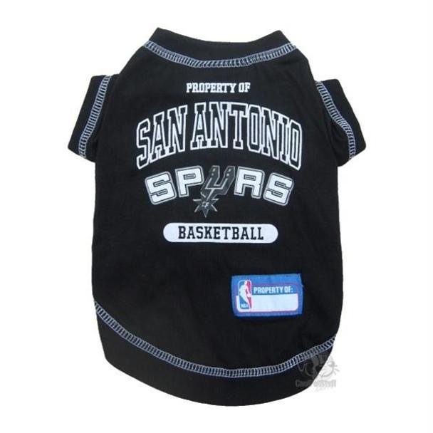 San Antonio Spurs Pet T-Shirt  - pfspu4014-0001