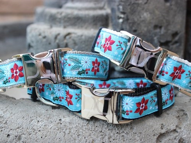 Winterberry Dog Collar - Personalized Buckle