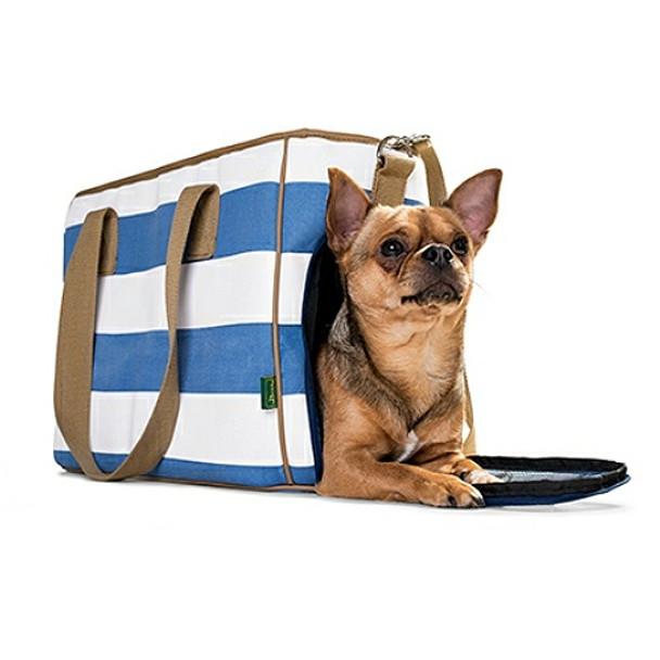 Maritime Pet Dog Carrier Ruegen - Blue Stripe