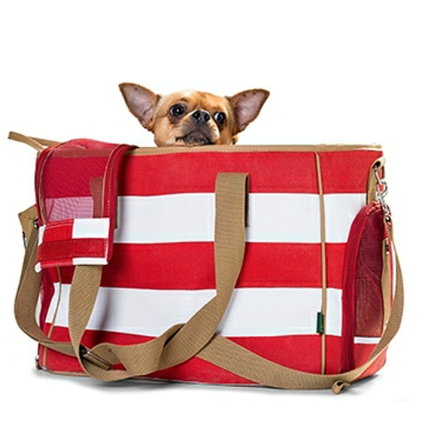 Maritime Pet Dog Carrier Ruegen - Red Stripe