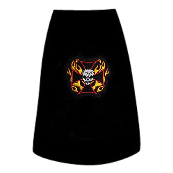 Fiery Skull Dog Tees