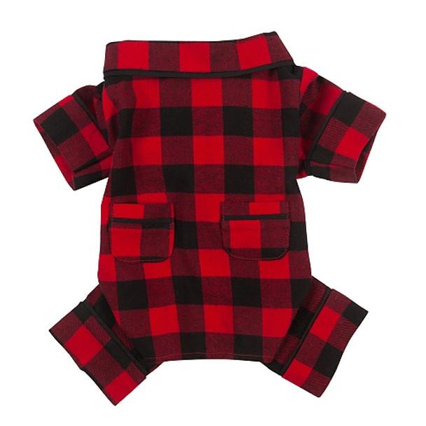 Buffalo Check Flannel Dog Pajamas