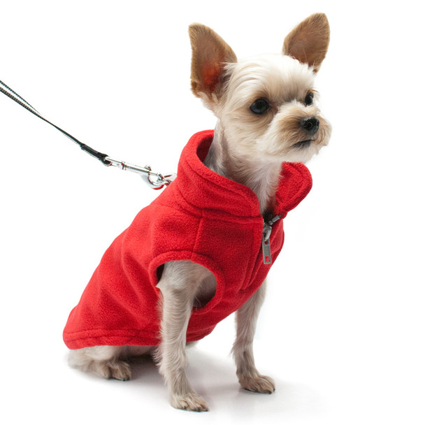 Essential Fleece Dog Vest - Red