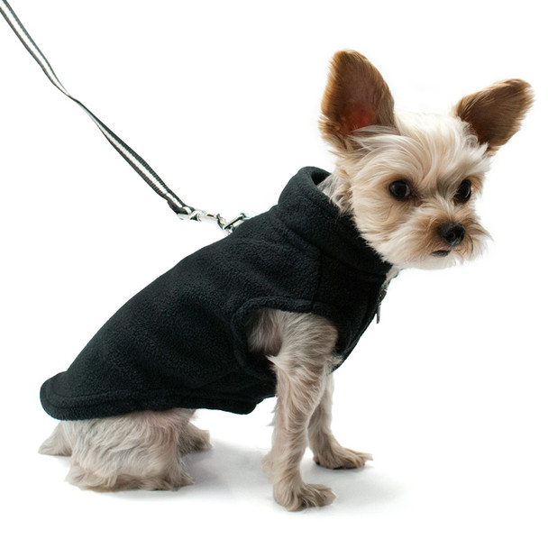 Essential Fleece Dog Vest - Black