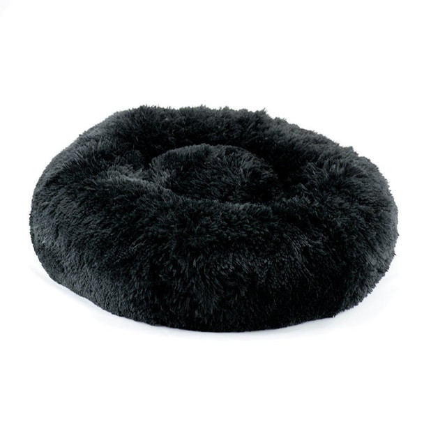 Designer Plush Black Shag Spa Bed