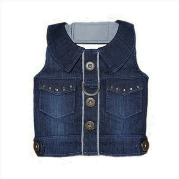 Miles Denim Dog Harness Vest