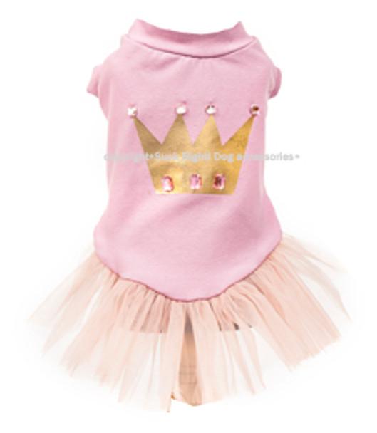 Designer Princess Crown Tutu Dog Dress