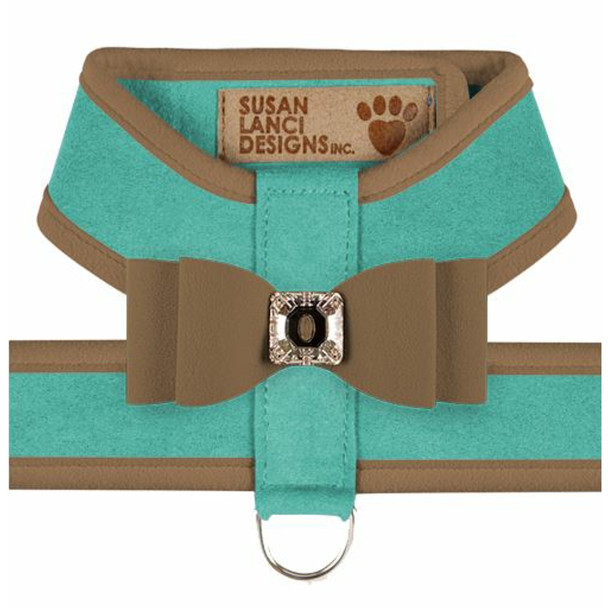 Big Bow Tinkie Harnesses -Binimi Blue / Fawn Trim/ Fawn Bow1