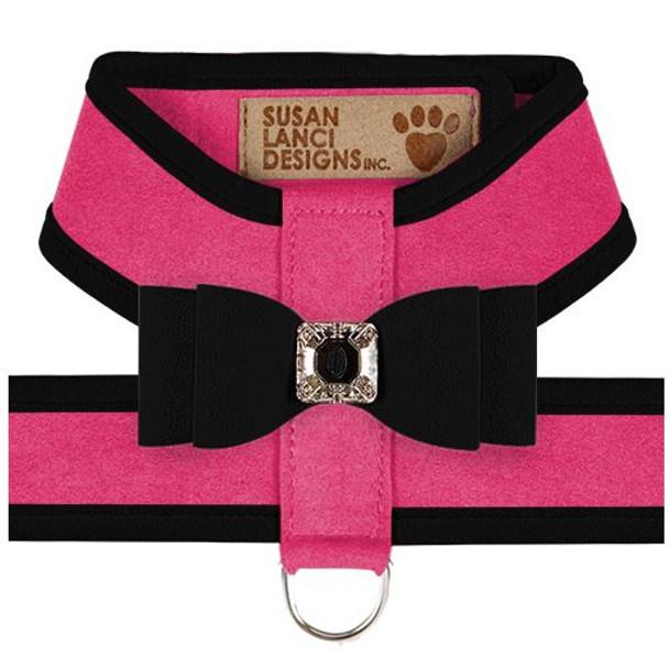 Big Bow Tinkie Harnesses - Pink Sapphire / Black Trim & Bow