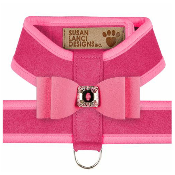 Big Bow Tinkie Harnesses - Pink Sapphire / Perfect Pink Trim & Bow