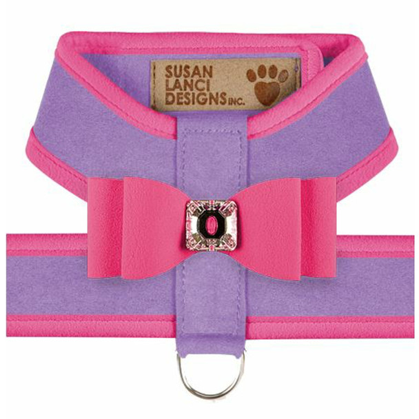 Big Bow Tinkie Harnesses - French Lavender / Pink Sapphire Trim & Bow