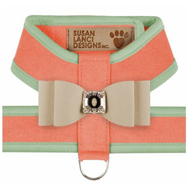 Big Bow Tinkie Harnesses - Peaches N Cream / Mint Trim & Doe Bow
