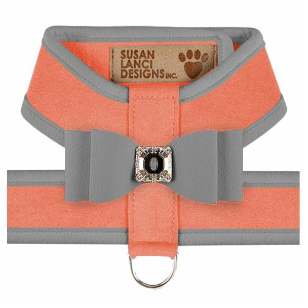 Big Bow Tinkie Harnesses - Peaches N Cream / Platinum Trim & Bow