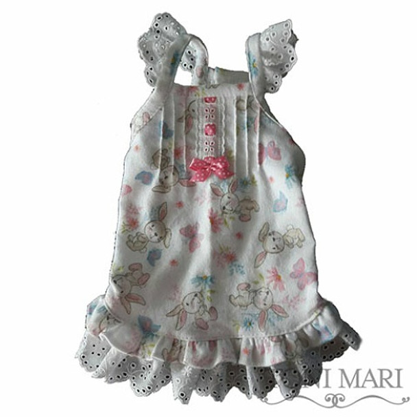 Lacey Vintage Roses Flannel Dog Nightgown