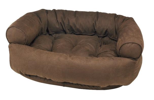 Cowboy Faux Leather Double Donut Pet Dog Bed