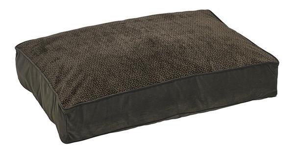 Chocolate Bones Microvelvet Super Loft Rectangle Pet Dog Bed