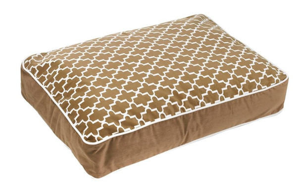 Cedar Lattice Microvelvet Super Loft Rectangle Pet Dog Bed