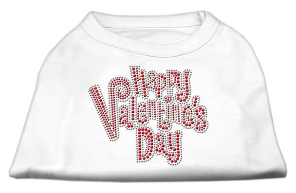Happy Valentines Day Rhinestone Dog Shirt / Tank - 6 Colors