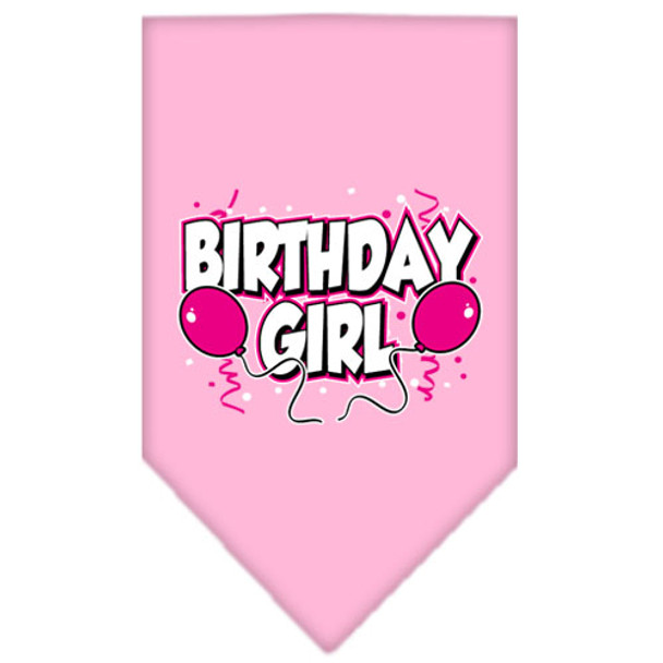 Birthday Girl Balloons Tie-on Pet Dog Bandana