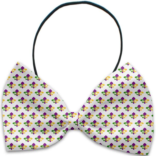Mardi Gras Fleur de Lis Pet Dog Bow Tie
