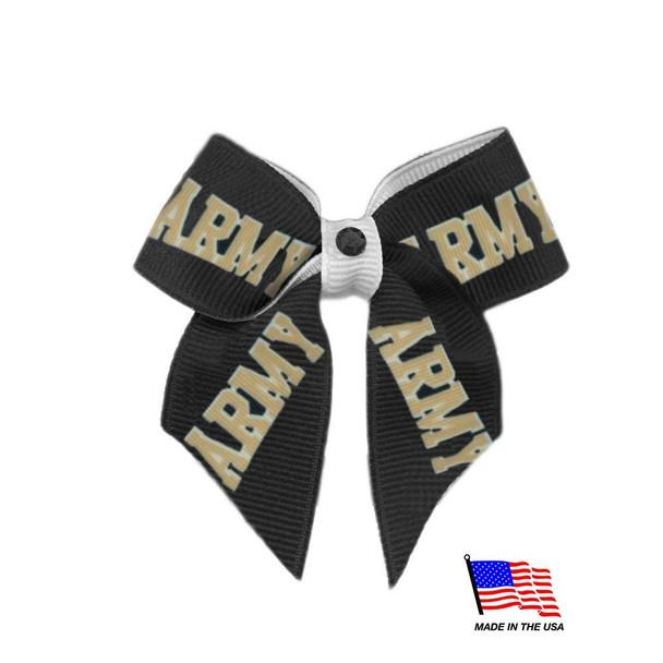 Army Black Knights Pet Hair Bow