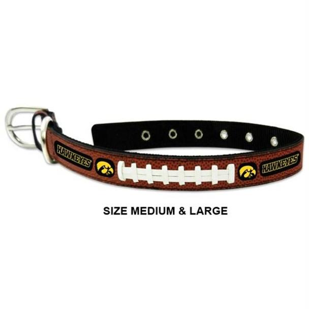Iowa Hawkeyes Classic Leather Football Collar
