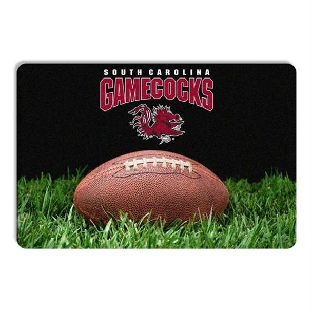South Carolina Gamecocks Classic Football Pet Bowl Mat
