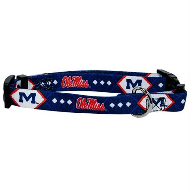 Ole Miss Rebels Dog Collar