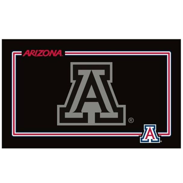 Arizona Wildcats Black Pet Bowl Mat