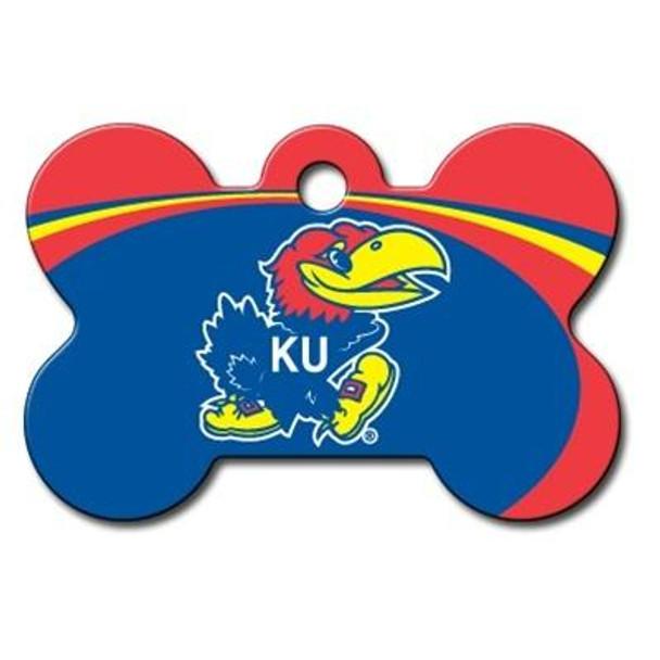 Kansas Jayhawks Bone ID Tag