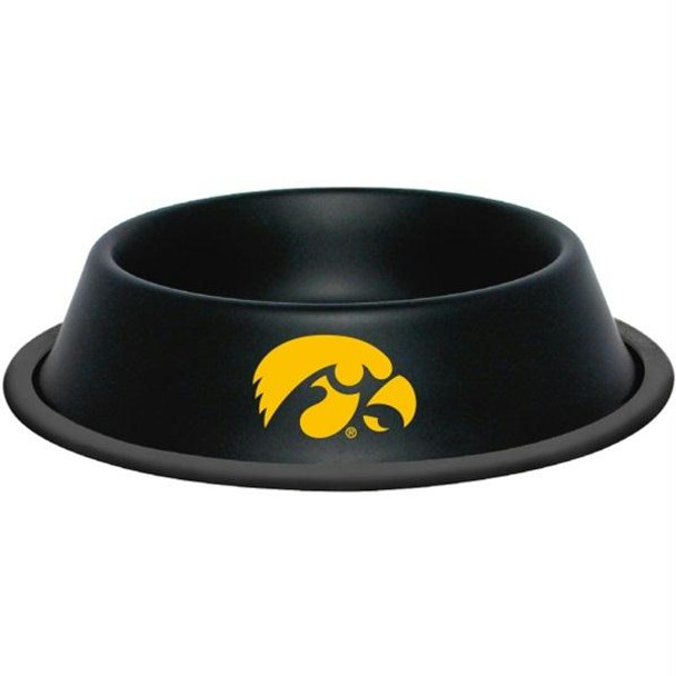 Iowa Hawkeyes Gloss Black Pet Bowl