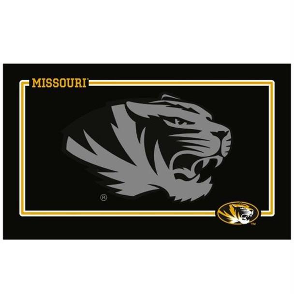 Missouri Tigers Black Pet Bowl Mat