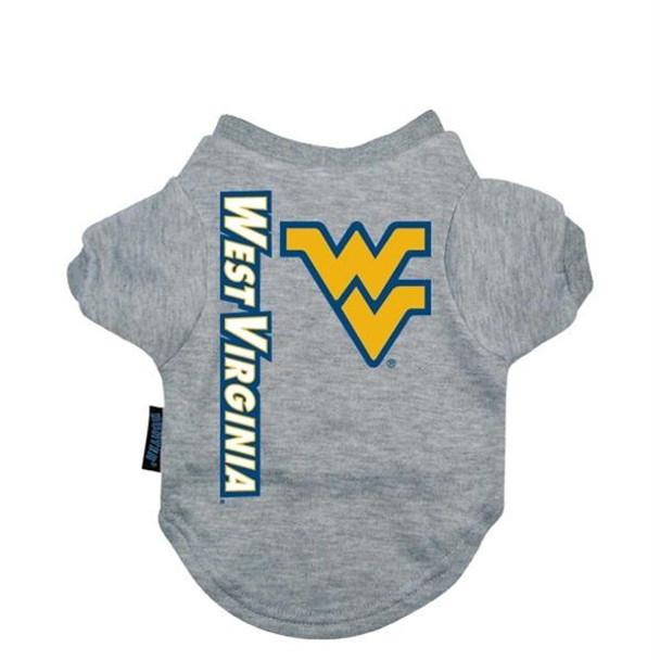 West Virginia Heather Grey Pet T-Shirt