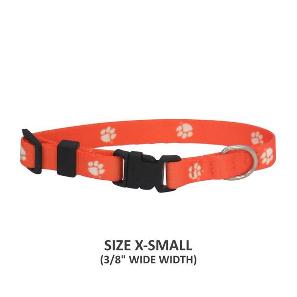 Clemson Tigers Pet Nylon Collar - Small
