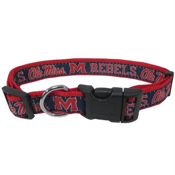 Ole Miss Rebels Pet Collar
