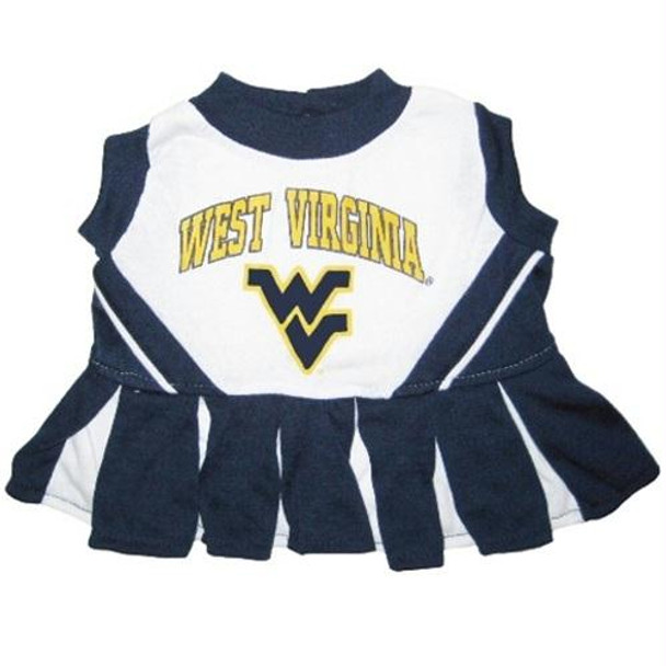 West Virginia Mountaineers Cheerleader Pet Dress