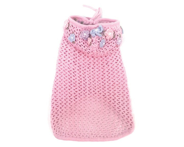 Lacey Breezy Pink Cover-up Dog Hoodie Sweater