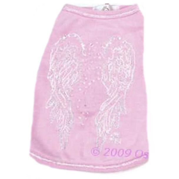 Angel Wings Dog Tee - Pink